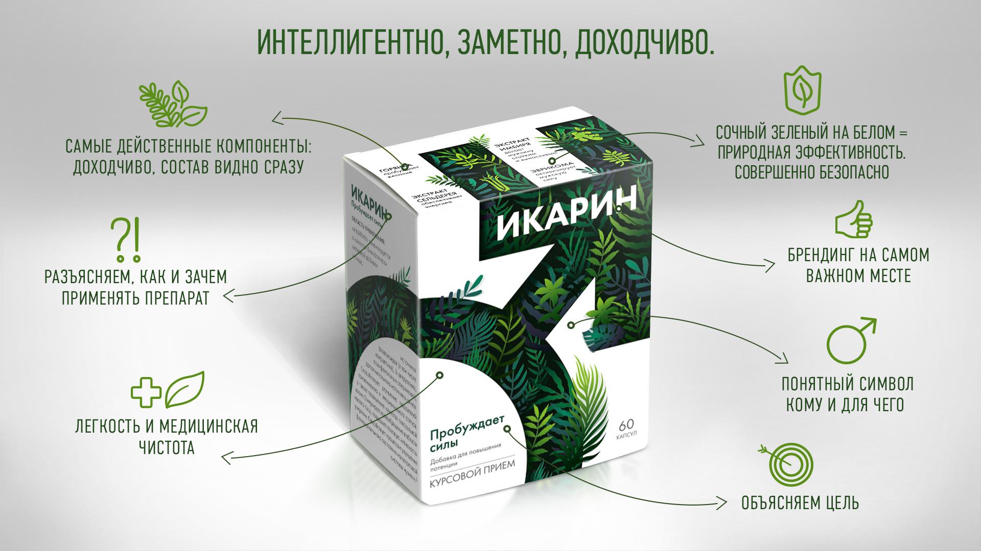 Разработка дизайна упаковки препарата Икарин