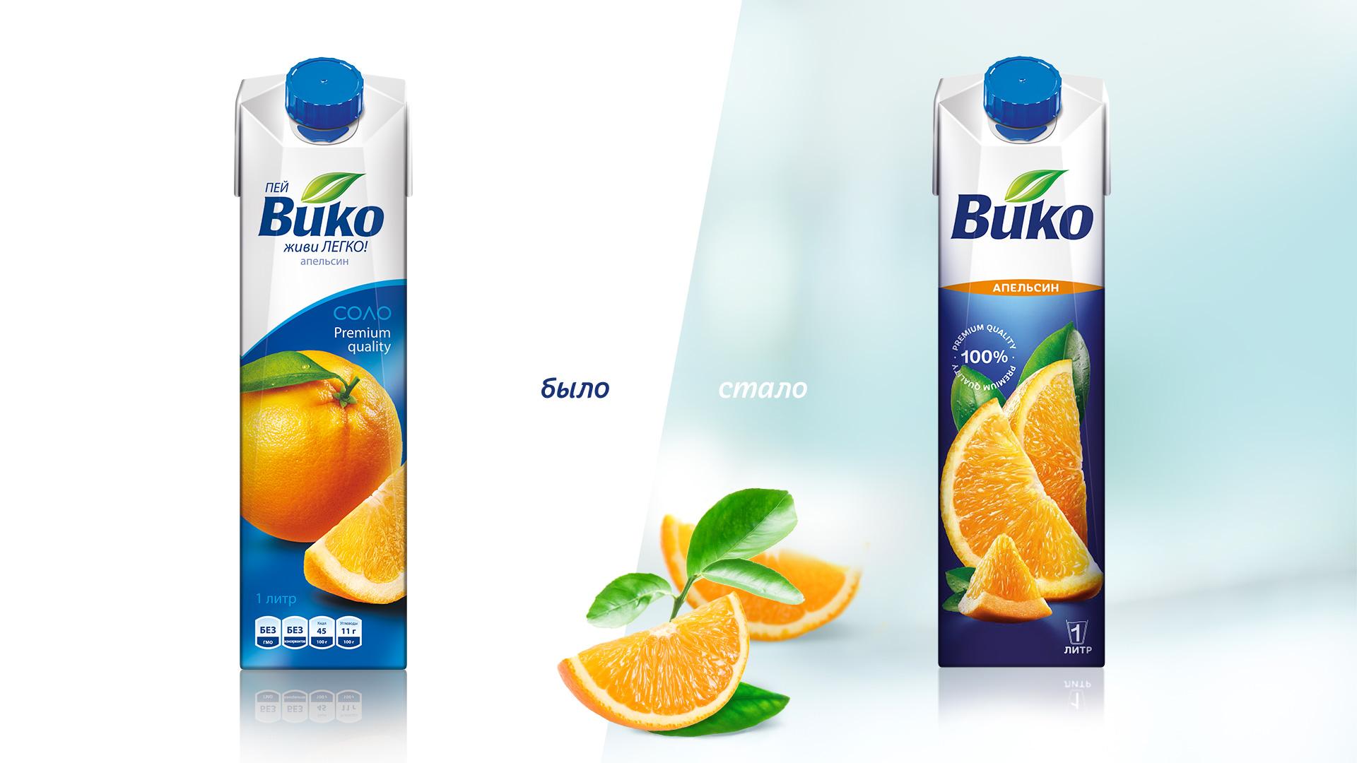 Редизайн упаковки сока ВИКО