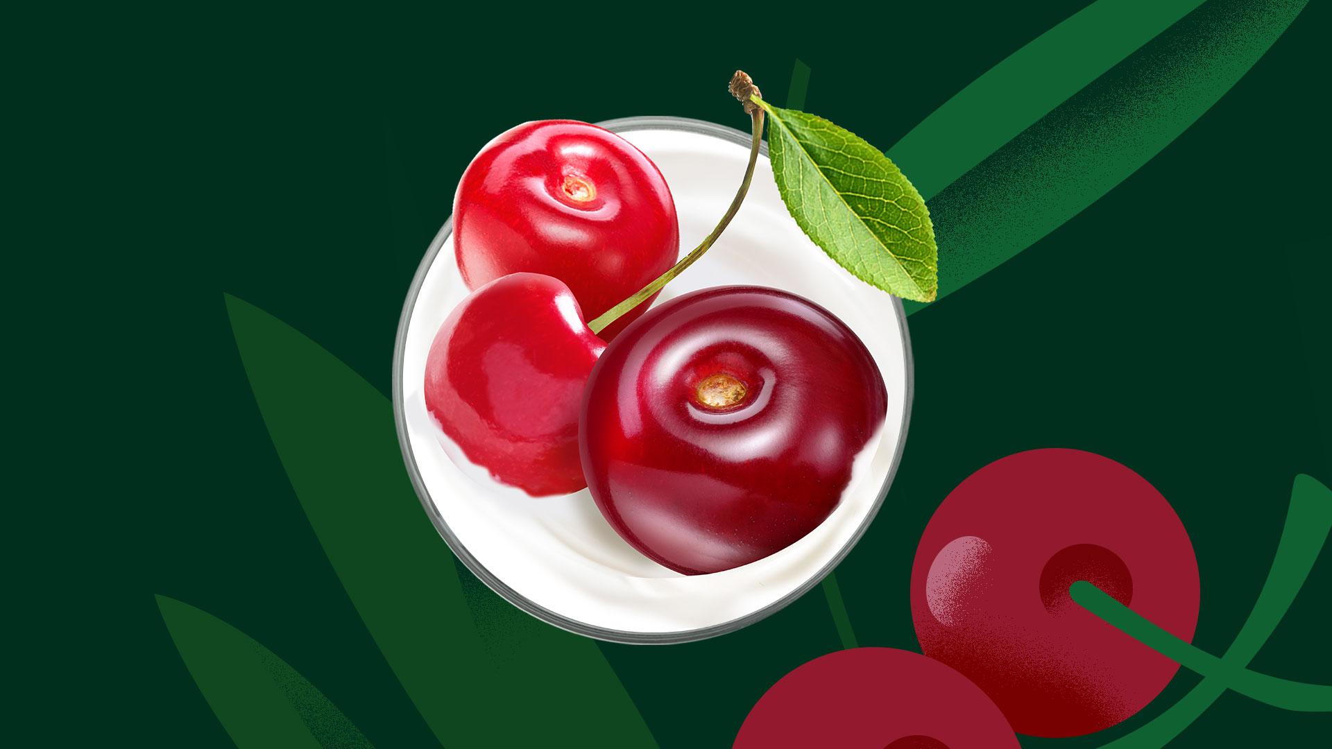 Фудстайлинг для вишневого йогурта Бежин луг
