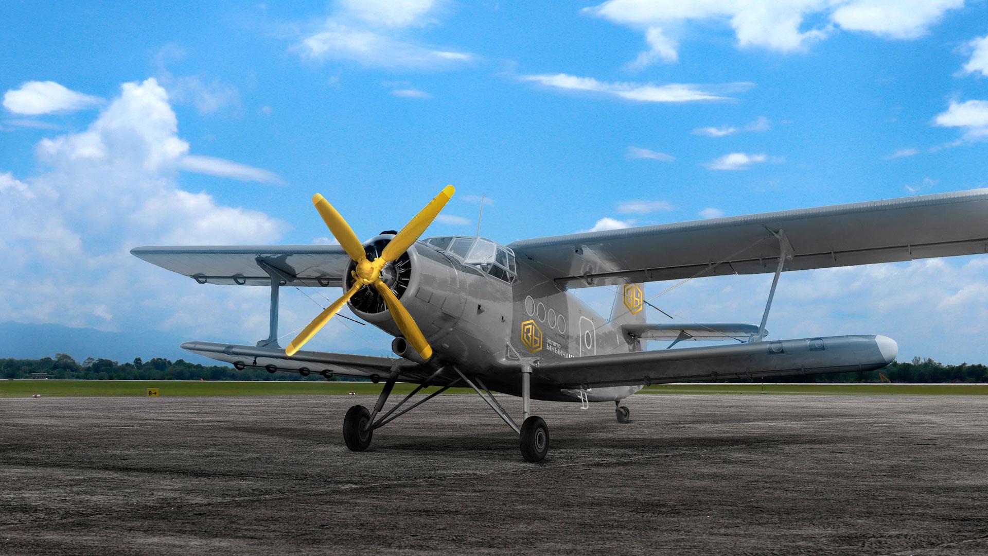 Разработка айдентики золотодобывающей компании на примере самолета